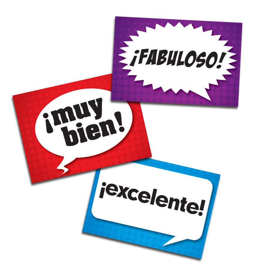Speech Bubbles Spanish Stickers (60)