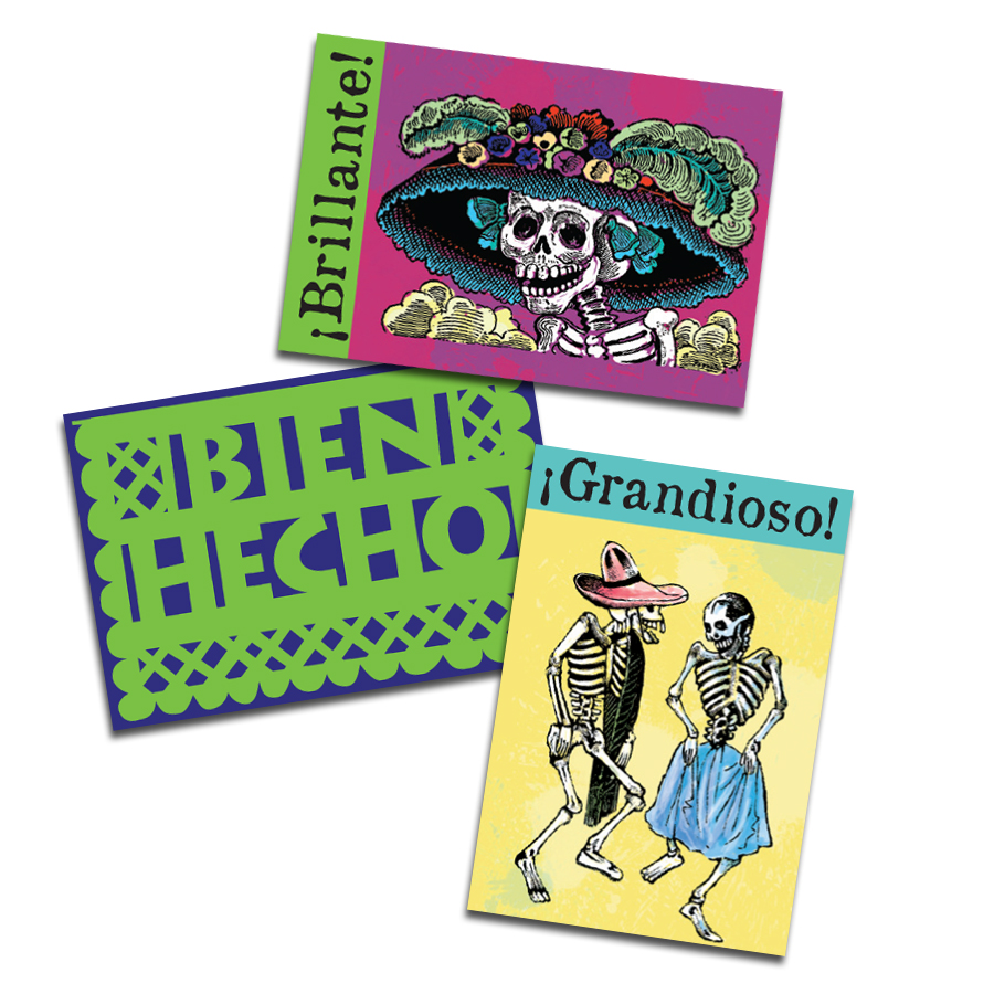 Papel picado Spanish Stickers (60)