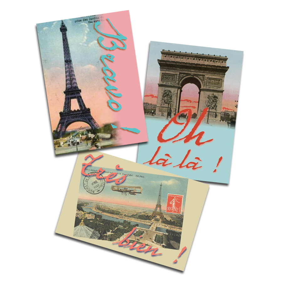 Postcards From Paris French Stickers (60)