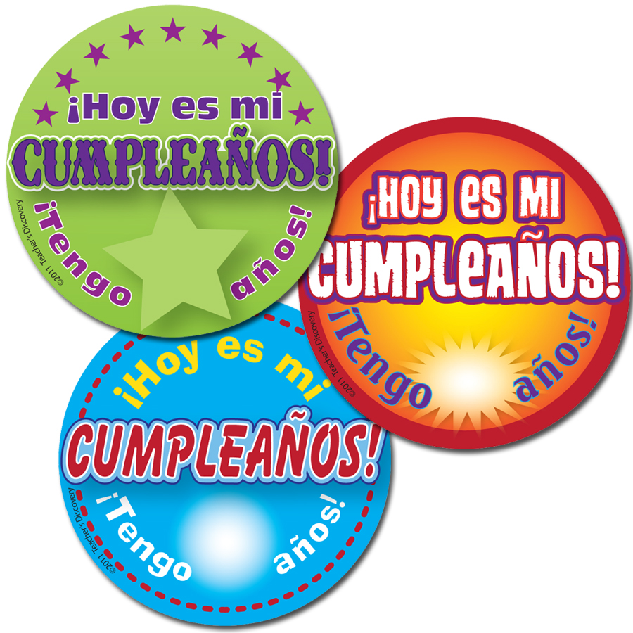 It's My Birthday! Spanish Stickers (90)