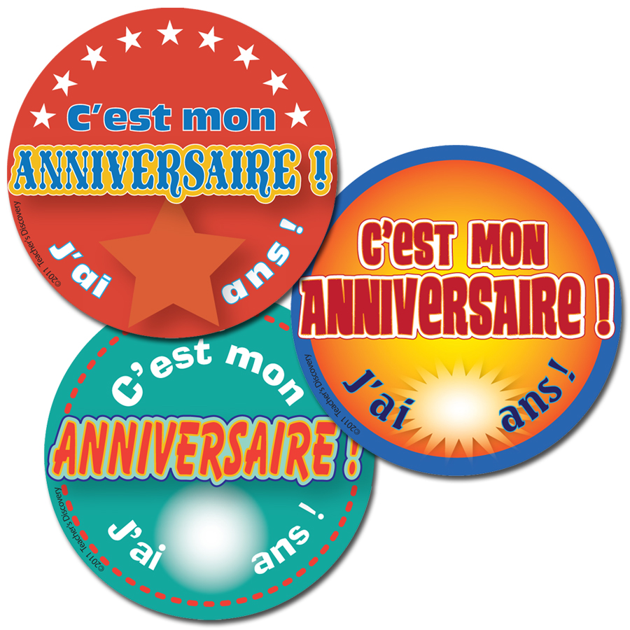 It's My Birthday! French Stickers (90)