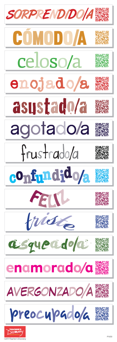Spanish Emotions QR Code Skinny Poster