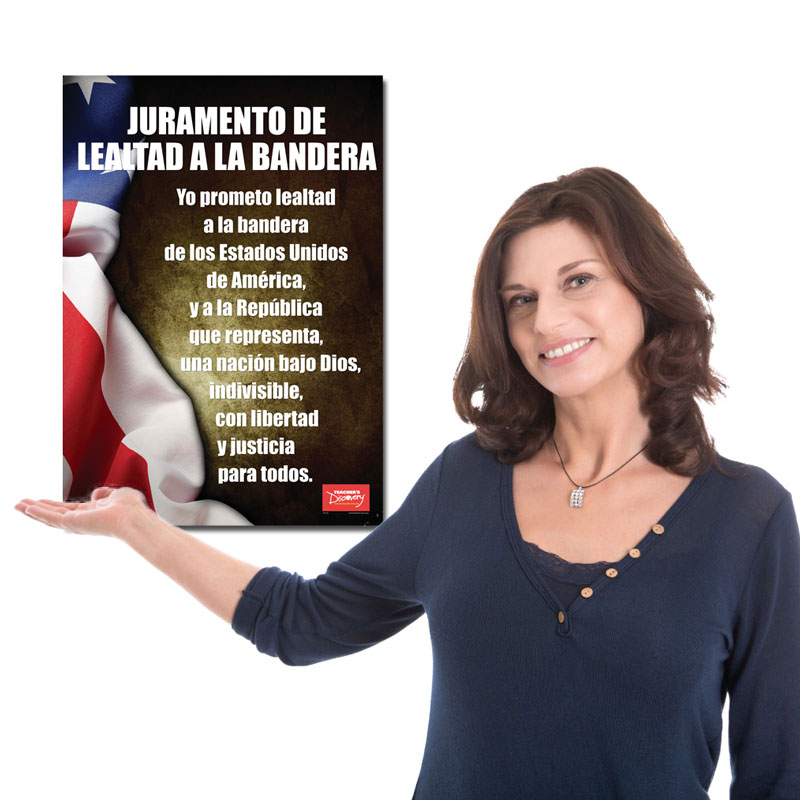 Pledge of Allegiance Spanish Poster