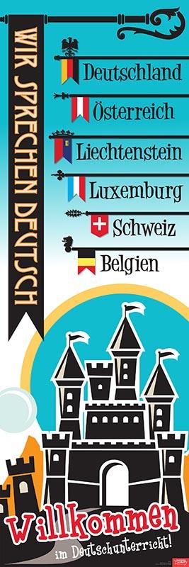 We Speak German Door Poster (2015)