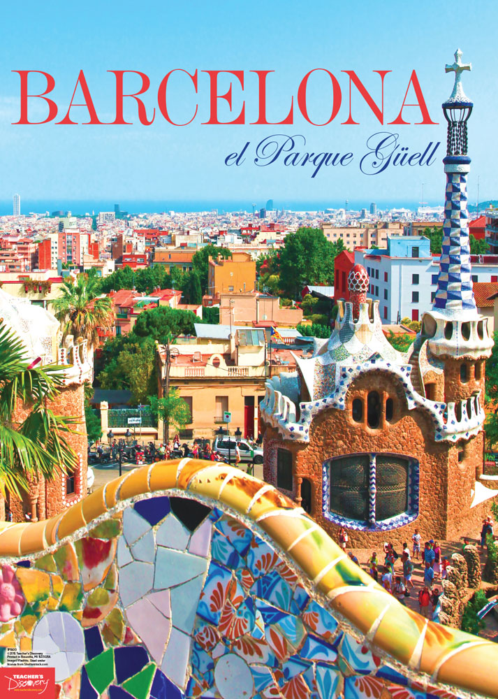 Barcelona spanish travel poster classroom d cor teacher for Free travel posters for teachers