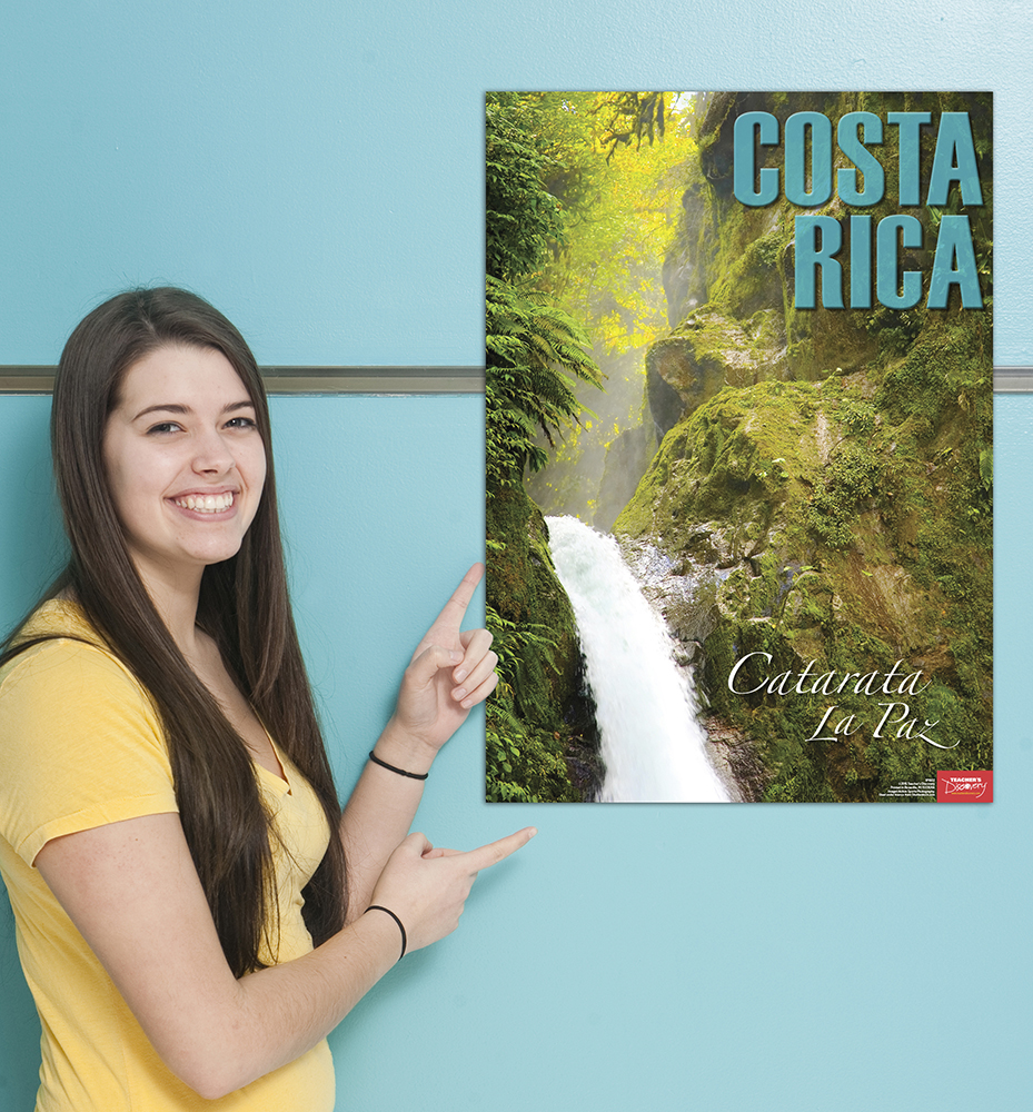 Costa rica spanish travel poster classroom d cor teacher for Farcical webster