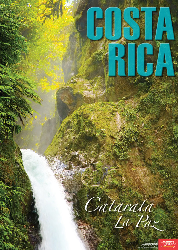 Costa rica spanish travel poster spanish teacher 39 s discovery for Free travel posters for teachers