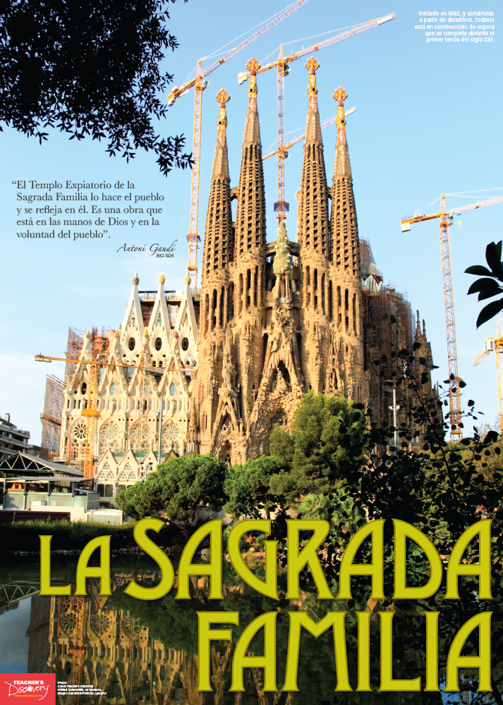La Sagrada Familia Spanish Travel Poster
