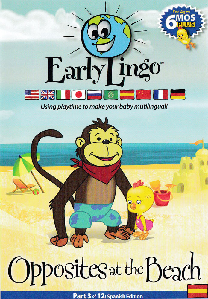 Early Lingo Opposites at the Beach Spanish DVD