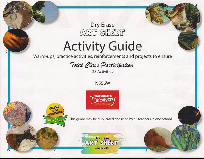 Dry Erase Art Sheet Activity Guide