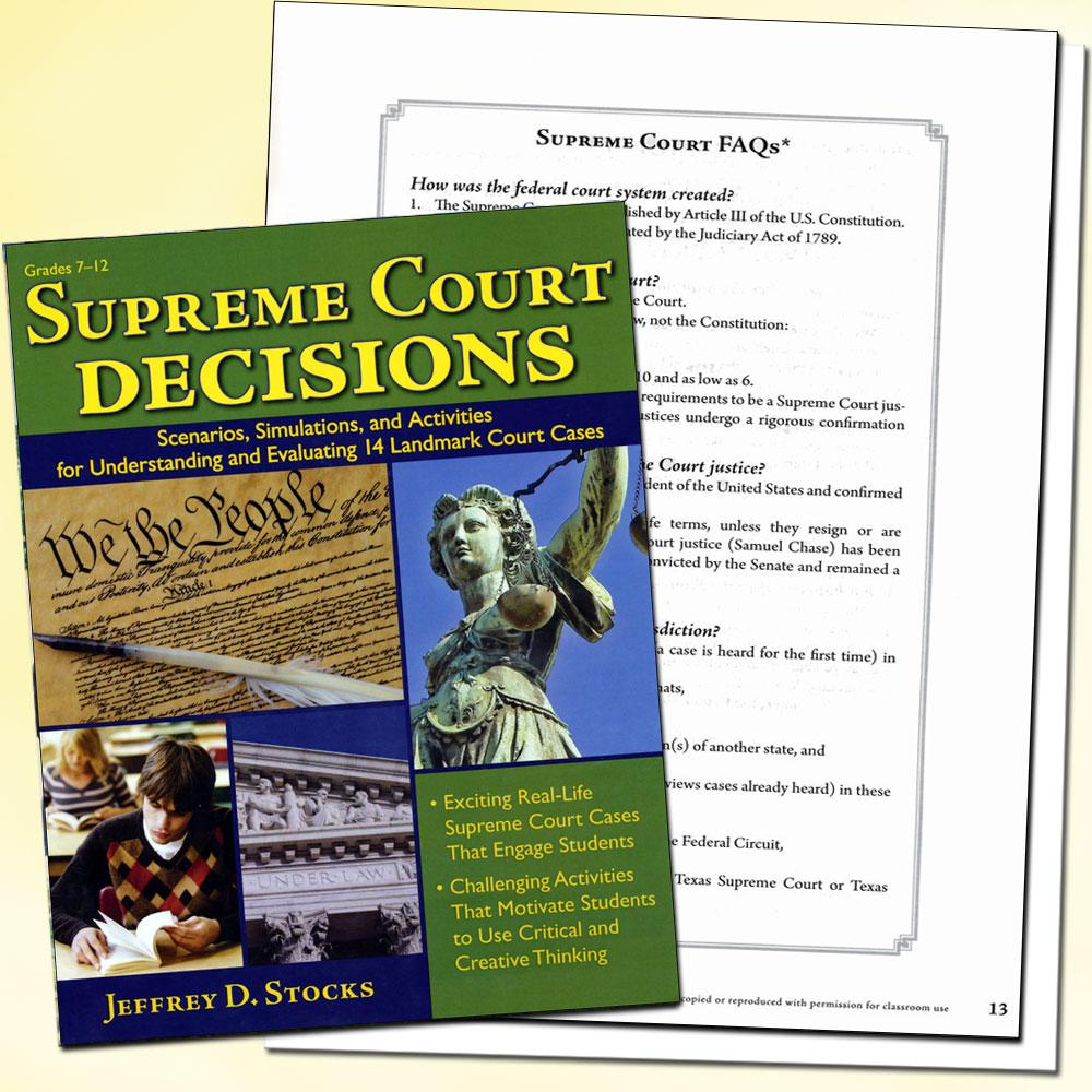 Supreme Court Decisions Grade 7-12 Book