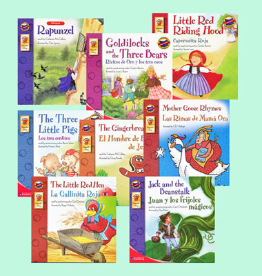 Fairy Tales Spanish/English Bilingual Story Books Set of 8
