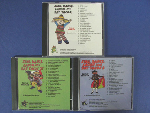 Sing, Dance, Laugh and Eat Tacos Set of 3 CDs