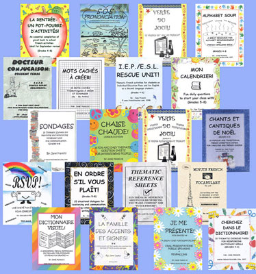 Library of 20 French Activity Packets