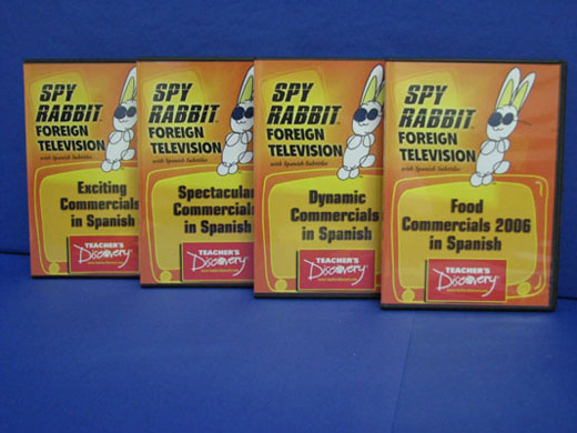 Commercials 2006 Set of 4 Spanish Spy Rabbit DVDs