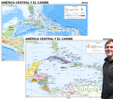 Central America Map in Spanish