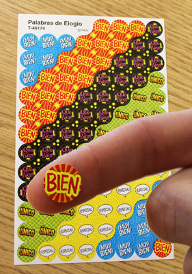 Dot Spanish Stickers (800 Pack)