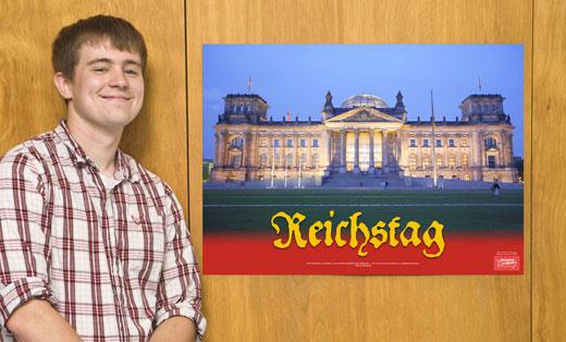 Reichstag German Travel Poster