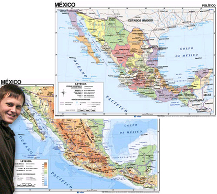Mexico Map in Spanish
