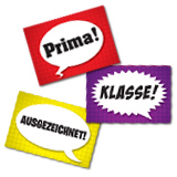 Speech Bubbles German Stickers (60)