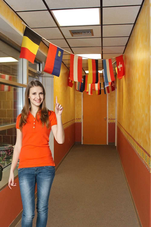 18 German-Speaking Countries Flag Banner
