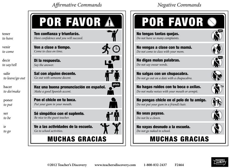 rules  tu commands spanish poster set  spanish  teacher u0026 39 s