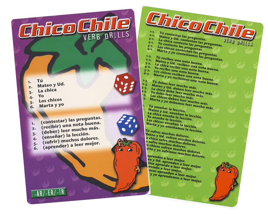 Chico Chile -AR/-ER/-IR Verbs Present Tense Game