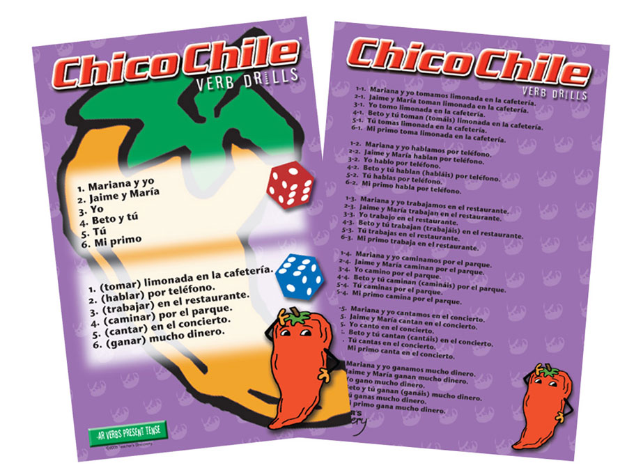 Chico Chile AR Verbs Present Tense Game