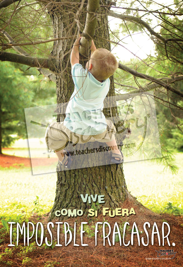 Live as if You Cannot Fail Spanish Poster