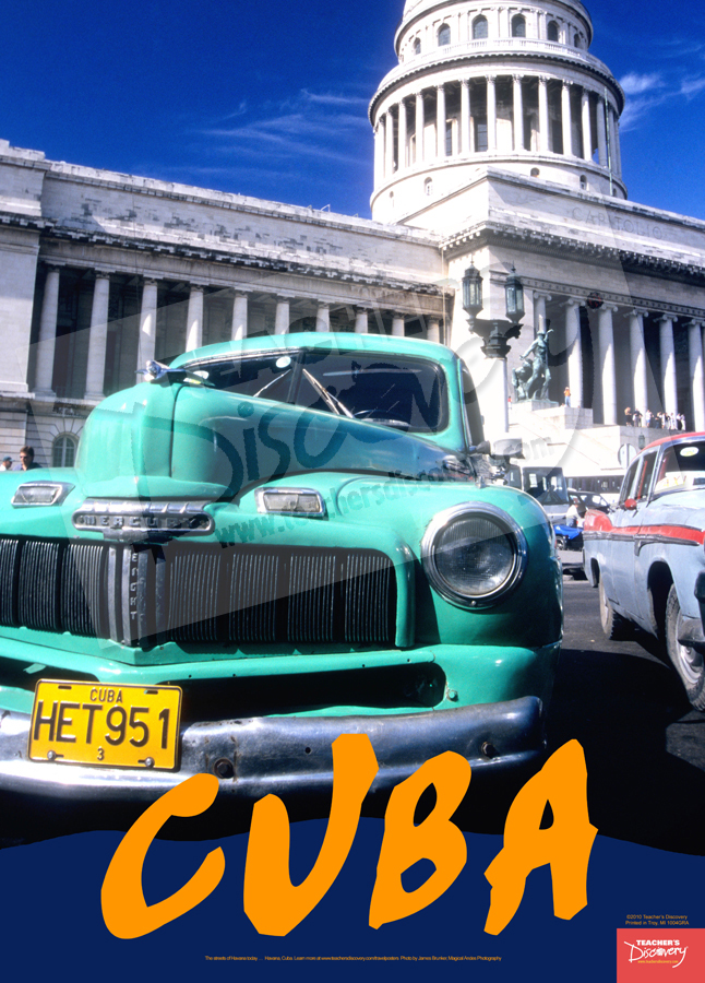 Capitol and Car Cuba Travel Poster