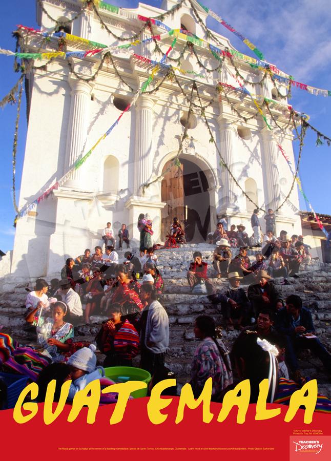 Chichicastenango Guatemala Travel Poster
