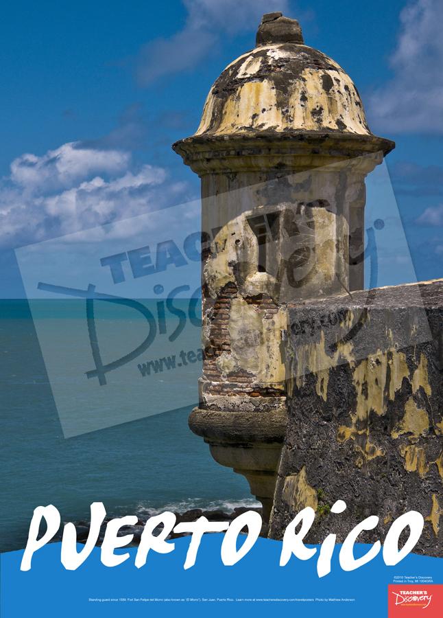El Morro Puerto Rico Travel Poster