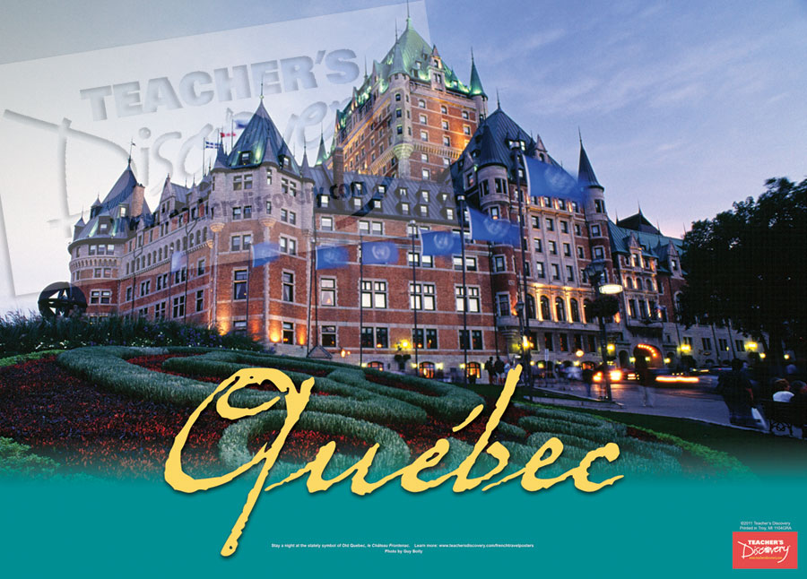 Quebec French Travel Poster
