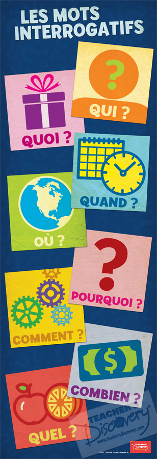 Interrogative Words Skinny Poster French