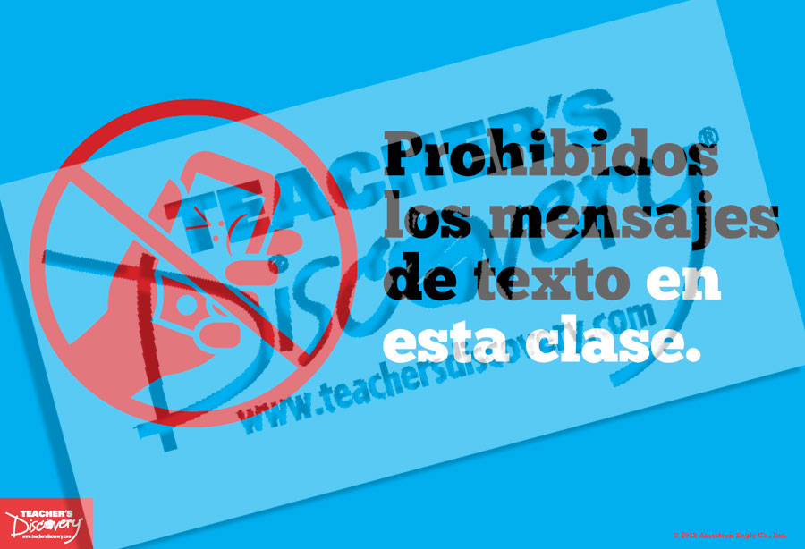 No Texting In This Class Spanish Mini Poster