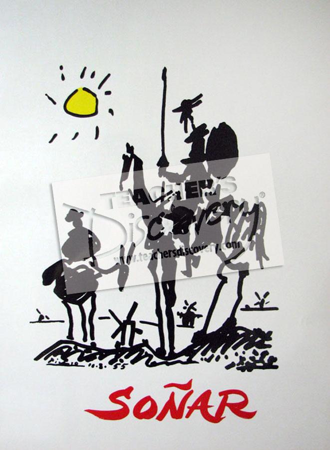 Picasso's Don Quixote Poster