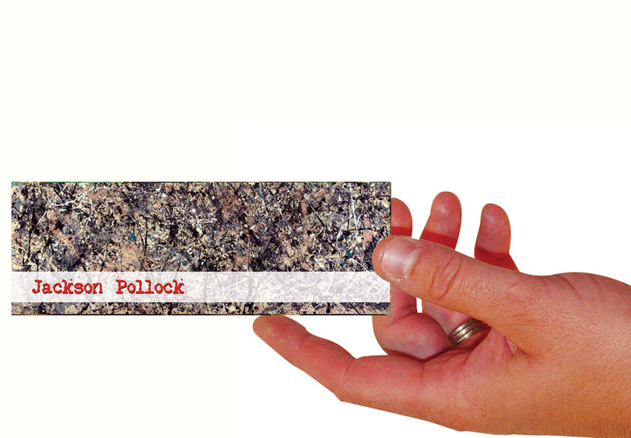 Jackson Pollock Set Of 100 Bookmarks