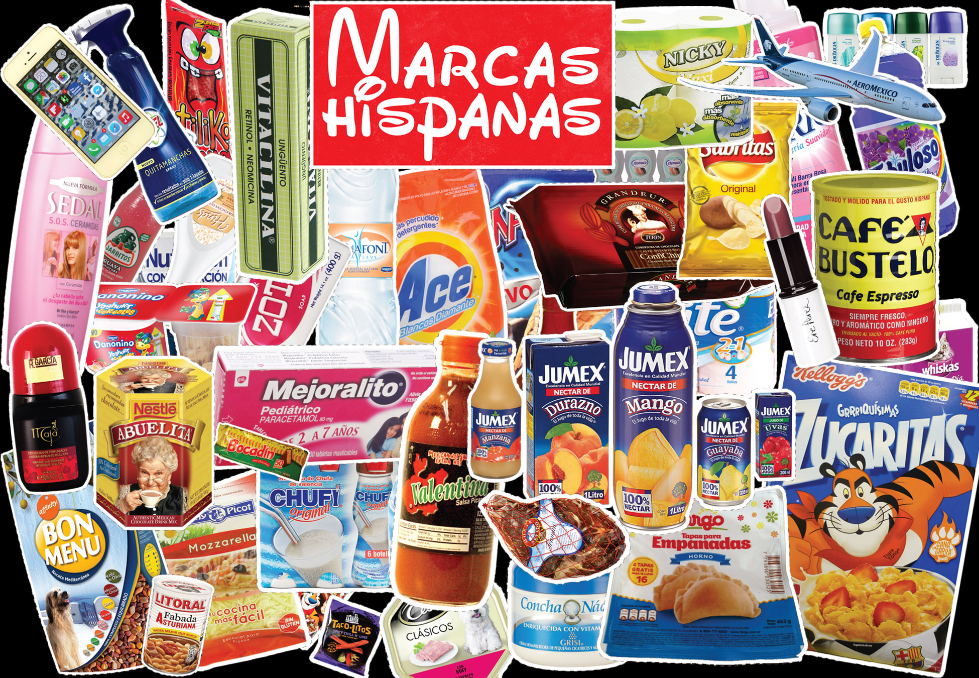 Marcas hispanas Mini-Poster Set