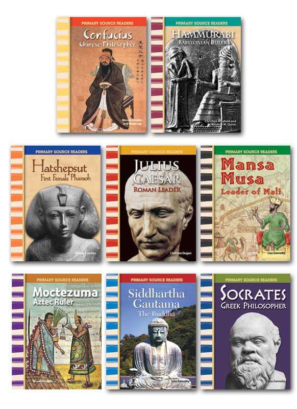 Ancient Civilizations Biographies Primary Source Readers ~ Set of 8