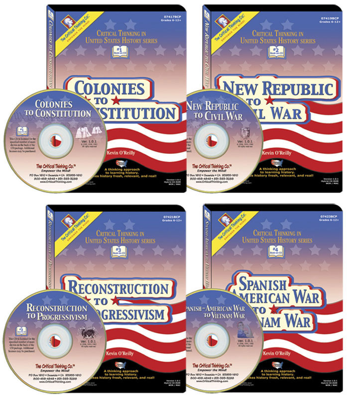 Critical Thinking in U.S. History ~ Set of 4 Books on CD