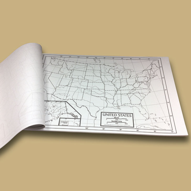 U.S. Outline Study Map Pad