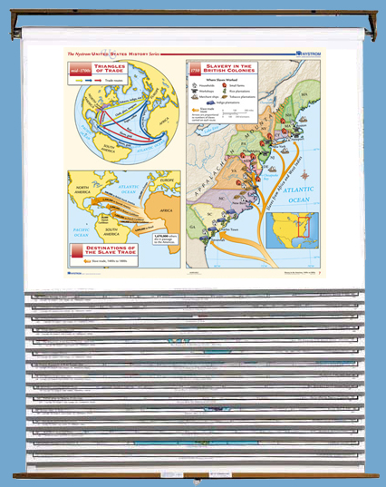 Basic U.S. History 14-Map Set on Multi-Roller