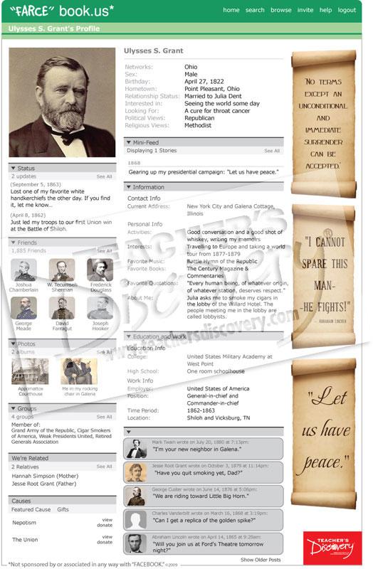 "Ulysses S. Grant ""Farce"" book Poster"