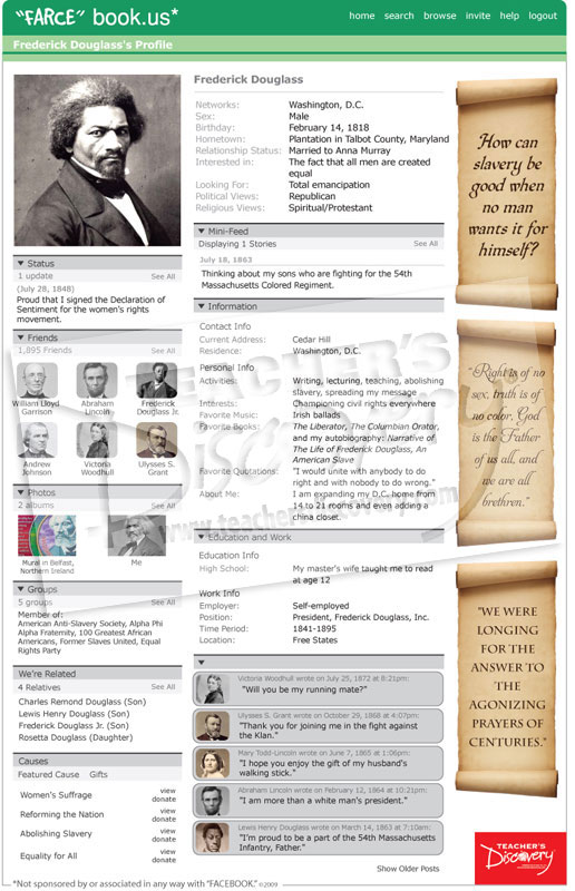 "Frederick Douglass ""Farce"" book Poster"