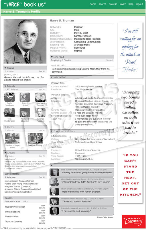 "Harry S. Truman ""Farce"" book Poster"