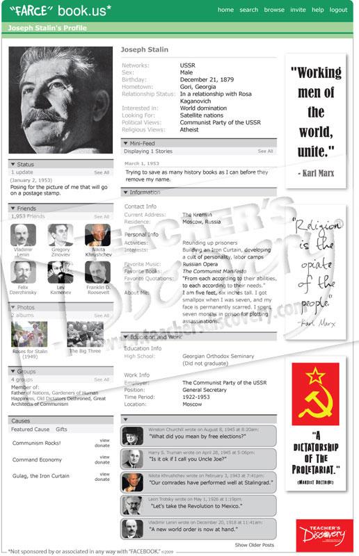 "Joseph Stalin ""Farce"" book Poster"