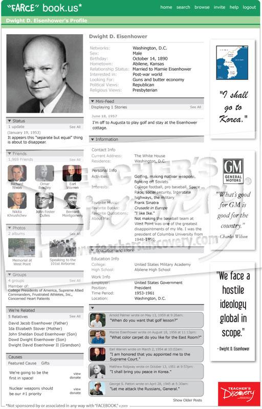 """Dwight D. Eisenhower Cold War """"Farce"""" book Poster"""