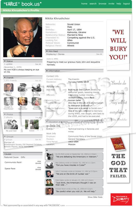 "Nikita Khrushchev ""Farce"" book Poster"