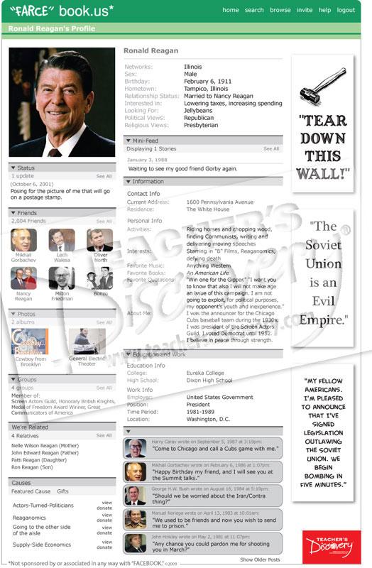 Ronald reagan farce book poster social studies teacher 39 s for Farcical webster