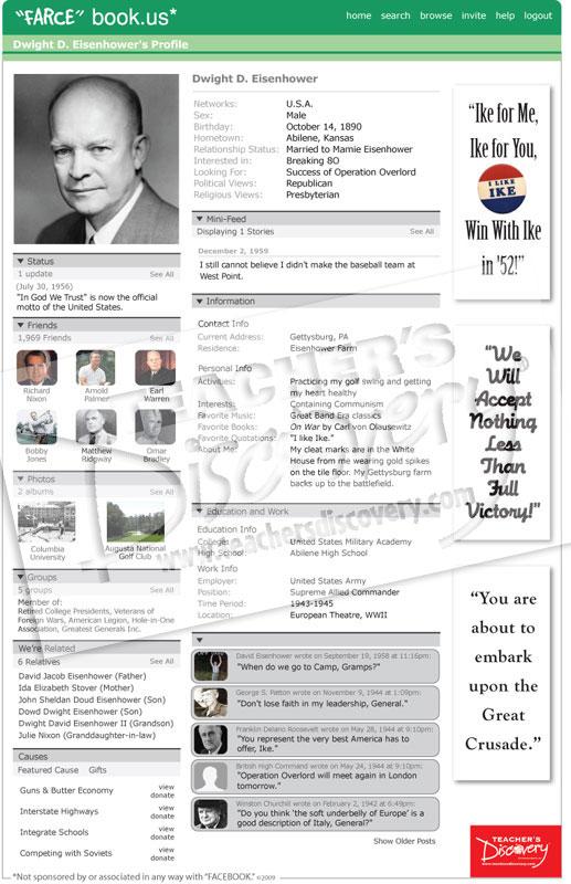 """Dwight D. Eisenhower WWII """"Farce"""" book Poster"""